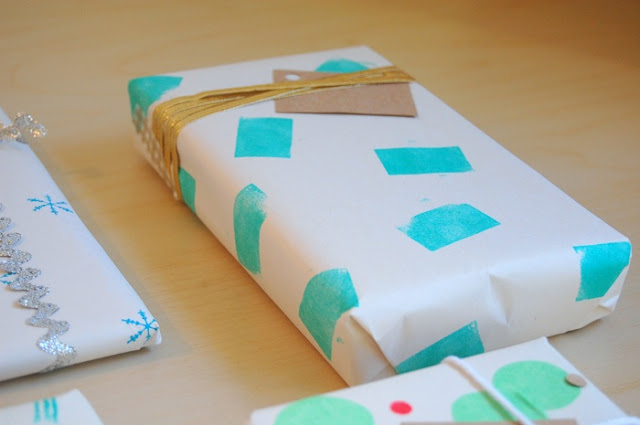 handmade decorated gift wrap