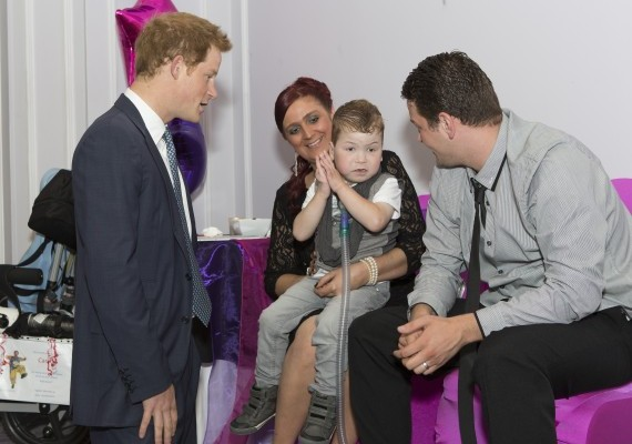 Prince Harry met with all the winners prior to the ceremony and later presented the Inspirational Child 3-6 category.