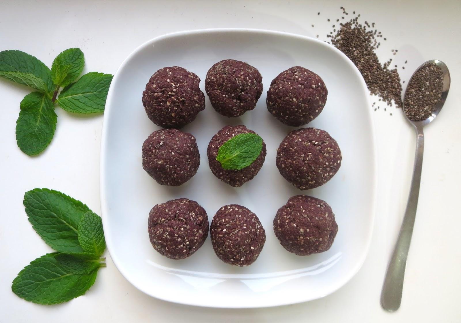 Cacao Chia Mint Energy Balls Nourishing Amelia