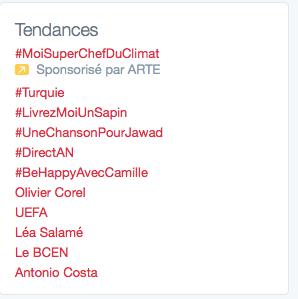 Tendances et trending topics
