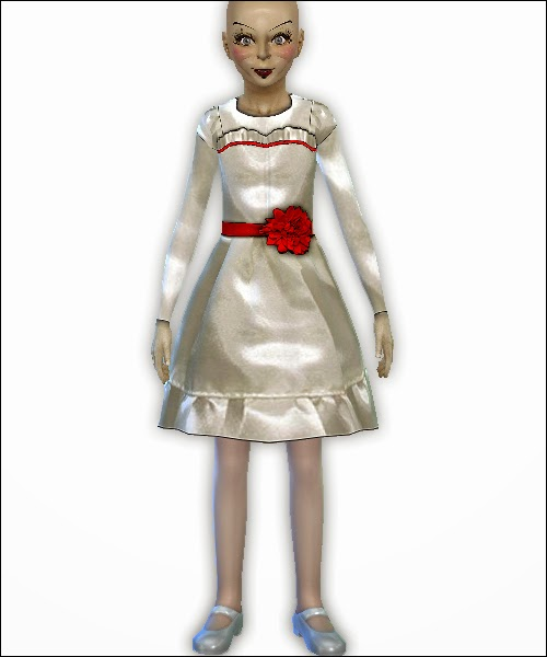 Annabelle Dress And Face Paint Costume For Girls By Altus Sims