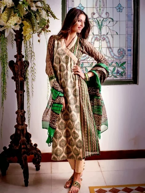 Gul Ahmed Catalog Lawn Silk Collection 2014