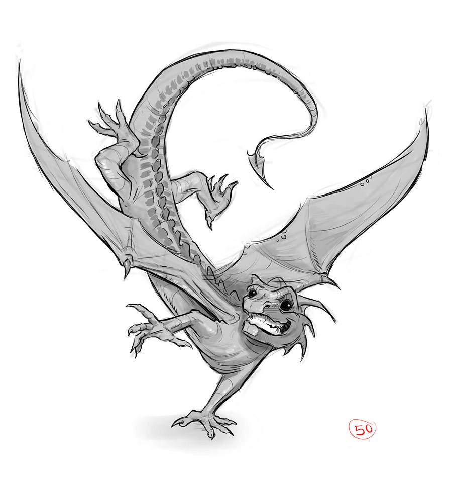 arthur gil larsen blog small sized dragon concept art