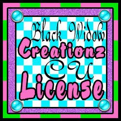 BLACK WIDOW CREATIONZ LICENSE