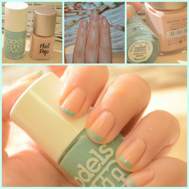 spring time french manicure inspired