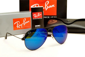 ray ban aviator rb3026 blue mirror glass  rayban aviator frame black,lens blue iridium