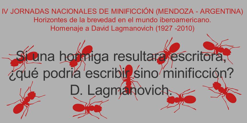 Si una hormiga resultara escritora, ¿qué podría escribir sino minificción? D. Lagmanovich
