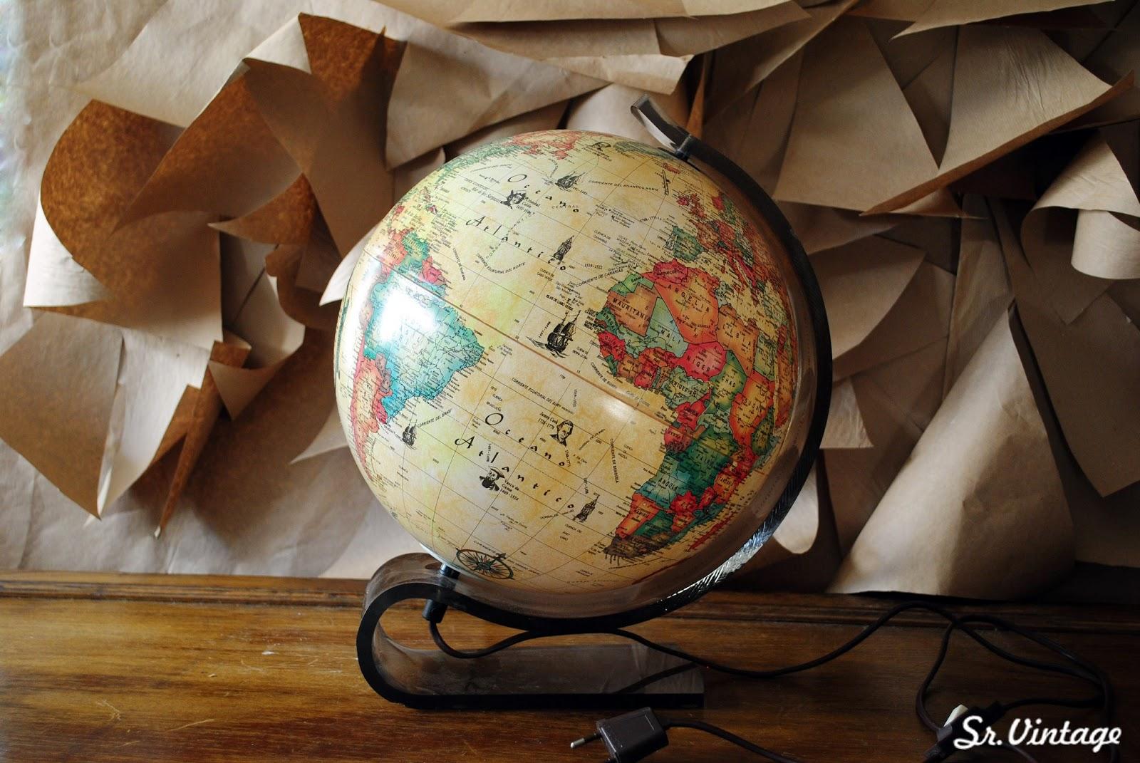Sr vintage shop tienda de decoraci n vintage retro chic - Bola del mundo decoracion ...