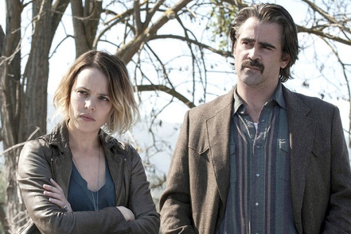 Rachel Weisz y Colin Farrell en True Detective
