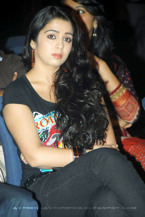 Charmi Actress In Tight Tshirt  hot images