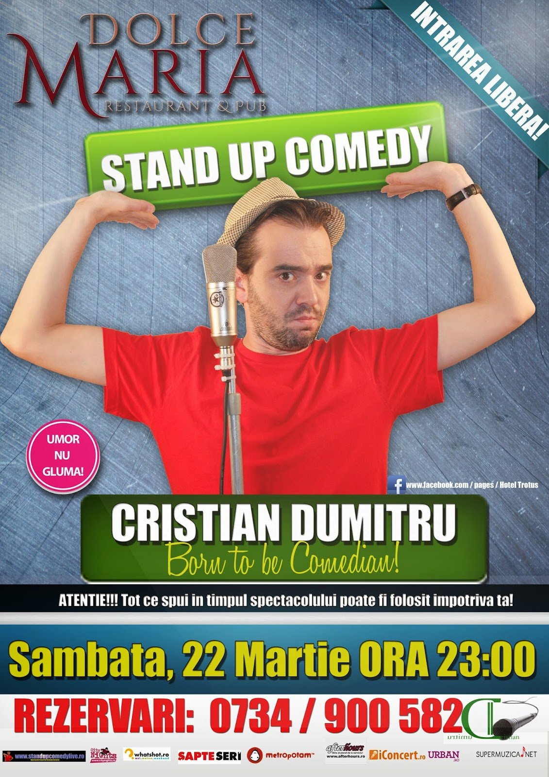 stand-up comedy onesti sambata