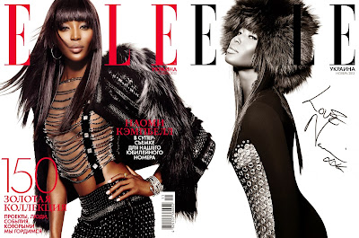 Naomi Cambell Covers The November Issue Of  Elle Ukraine