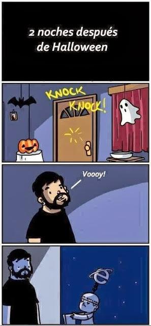 Humor halloween e Internet Explorer