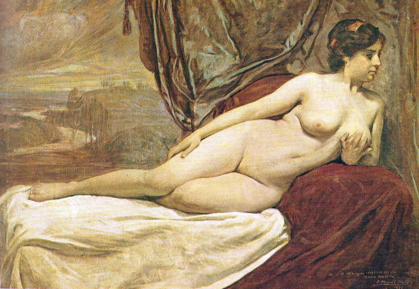Mujer, romntico, desnudo, rosas, tenencia, rojo Mujer