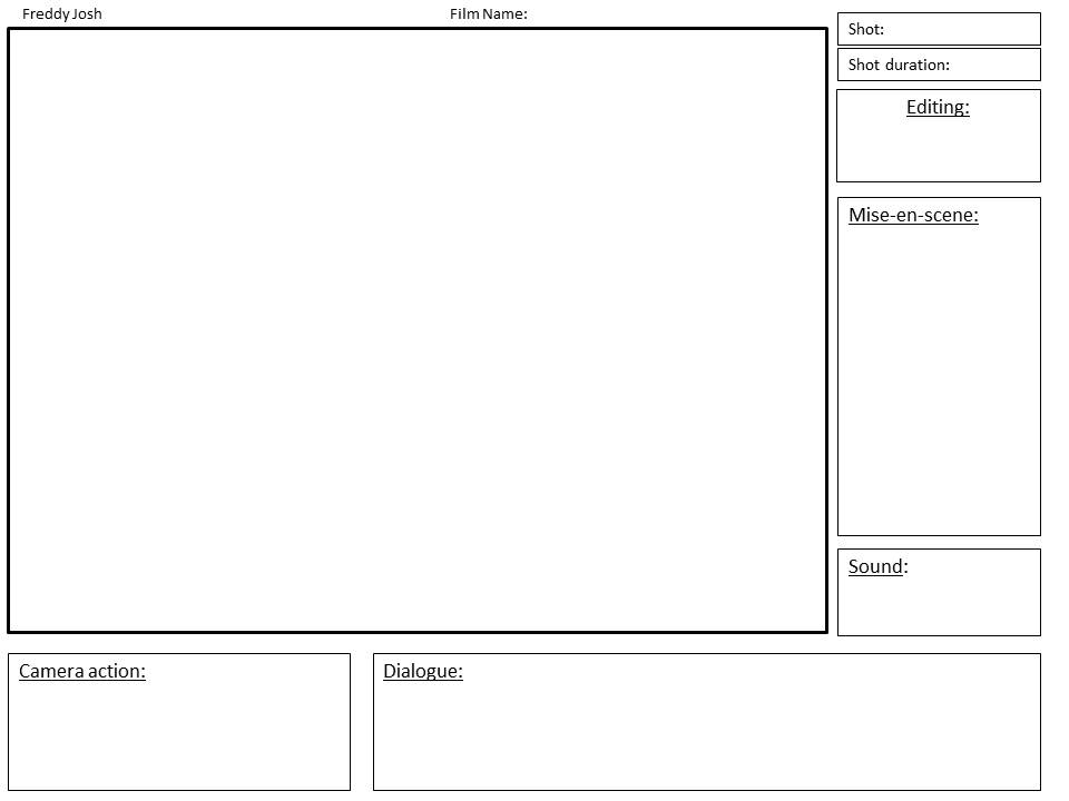 Storyboard Template Film Studies Blog
