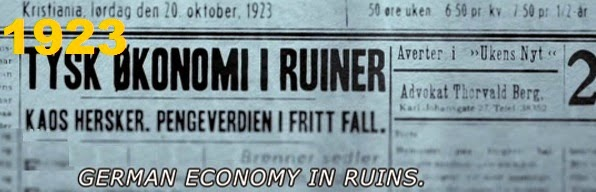 1923: German economy in ruins.