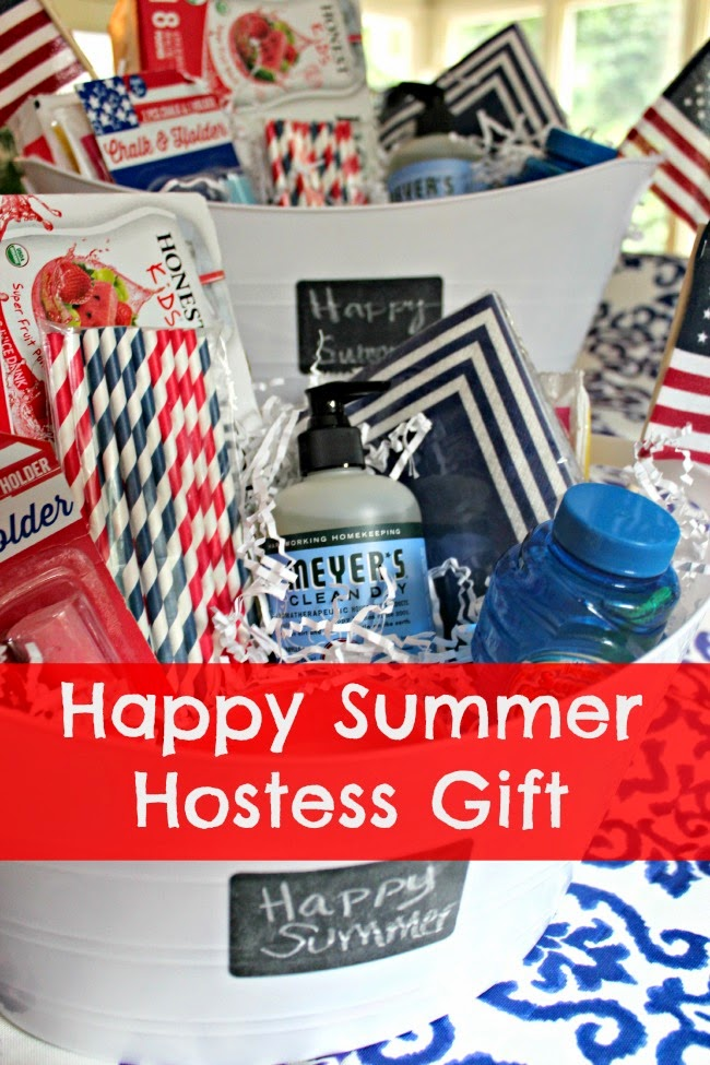 Hostess gift summer fun in a beverage tub southern for Hostess gifts that travel well