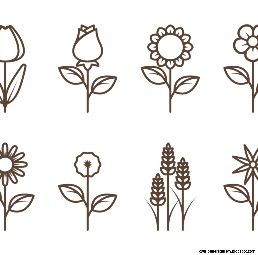 Free vector Flower Outline Vectors 10075  My Graphic Hunt