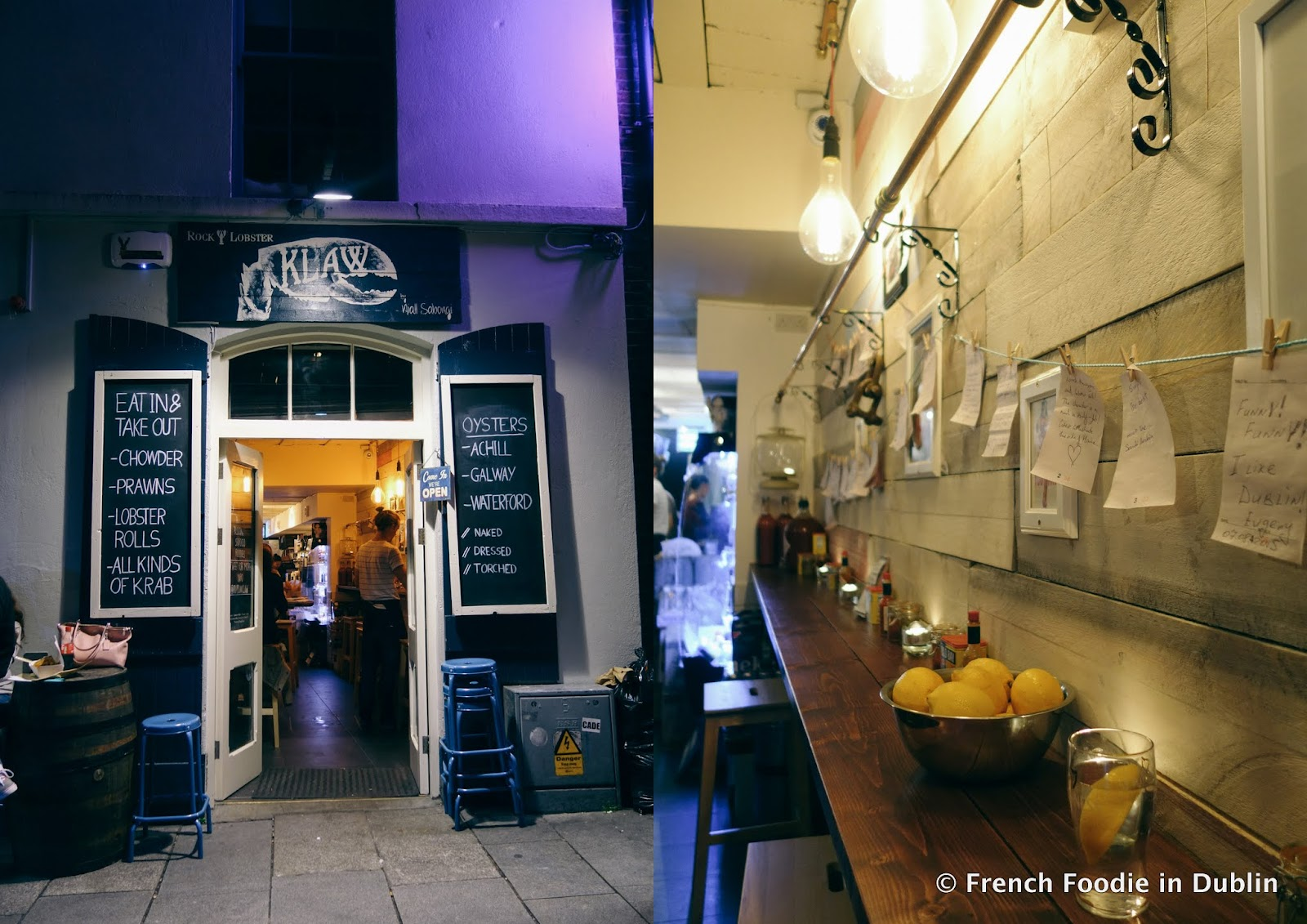 Temple bar 39 s seafood shack klaw french foodie in dublin for Bar food dublin 2