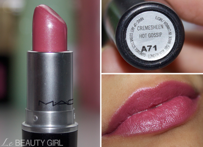 My MAC Lipstick collection (Hot Gossip)