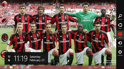 2013 Ac Milan Theme For Windows 7