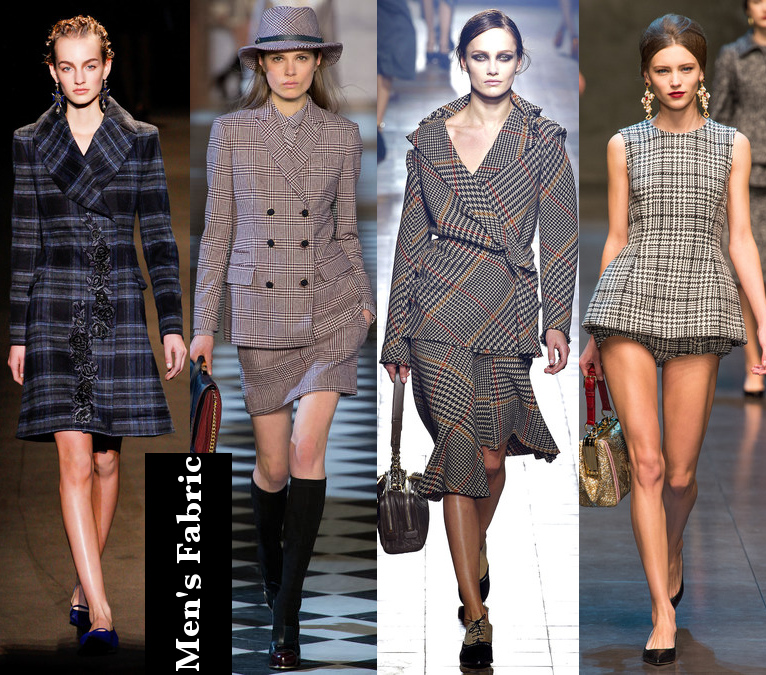 Women's Fall 2013/2014 Trends- Men's Fabric Patterns