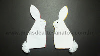 Crafts in felt for easter bunny rabbit