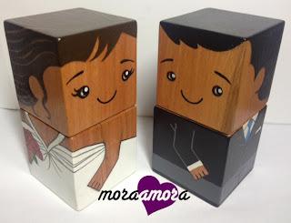 Noivinhos de madeira modulares