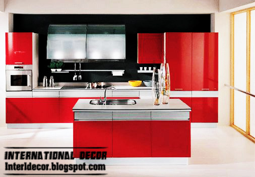 New Classic Red kitchen Designs  kitchen Designs in Red color