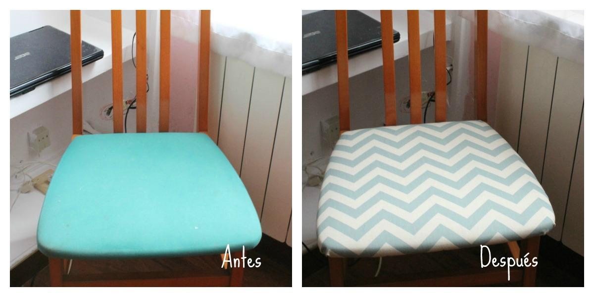 Diy casa tapizando una silla boulevard pink - Tela para tapizar sillas ...