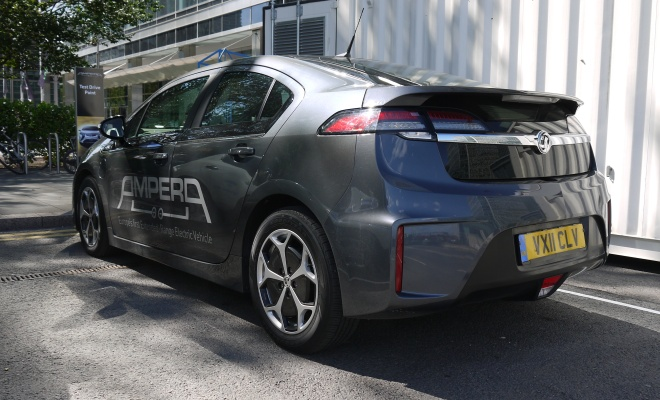 Vauxhall Ampera from the back