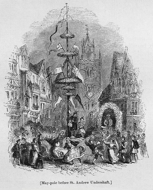 May-pole before St. Andrew Undershaft
