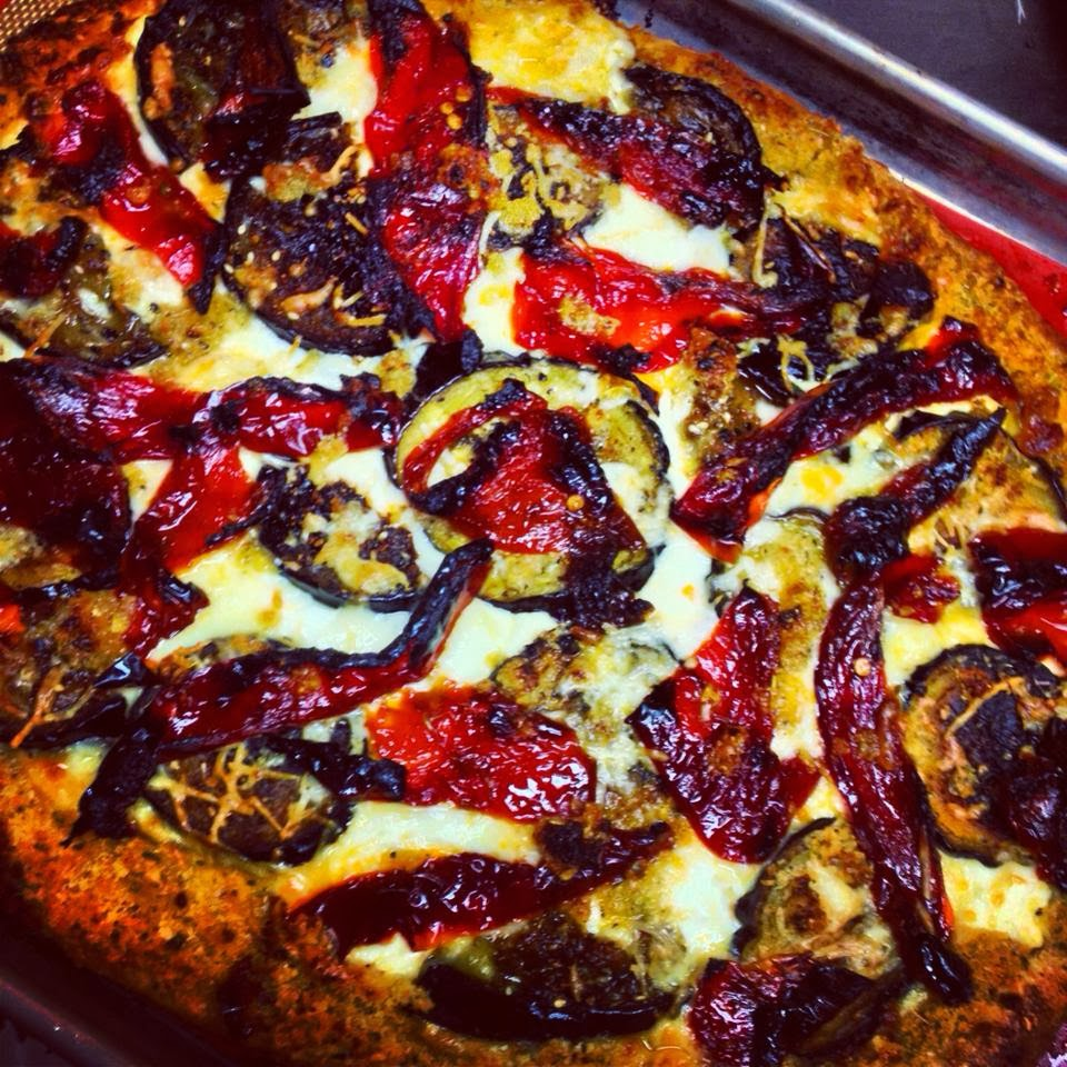 Heirloom: Eggplant Parmesan Pizza with Roasted Eggplant Chips, Ricotta ...
