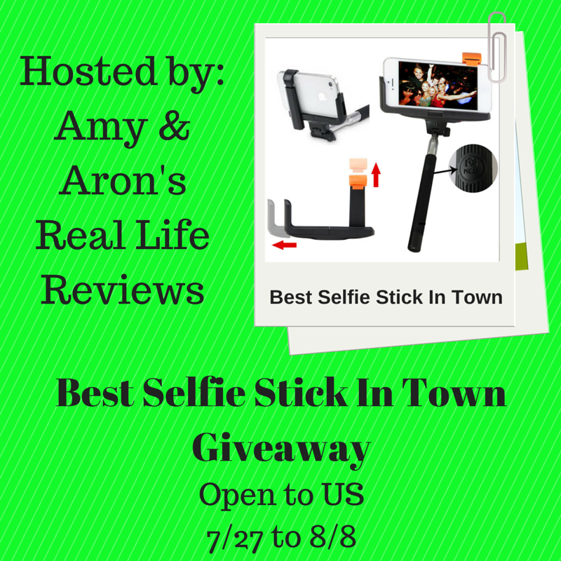 best selfie stick in town giveaway amy aron 39 s. Black Bedroom Furniture Sets. Home Design Ideas