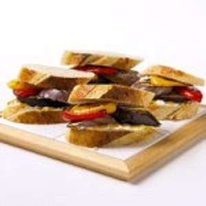 The Recipe File: Grilled Eggplant and Sweet Pepper Sandwiches