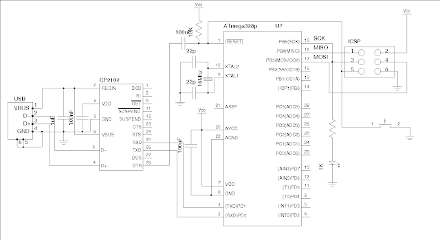 ELECTRONIC CIRCUIT: An Arduino Compatible Using CP2102