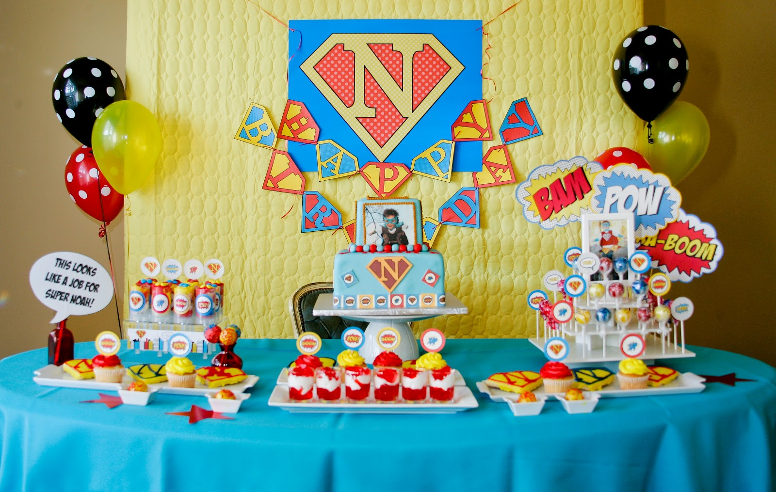 Super Noahs 4th Birthday Decorations