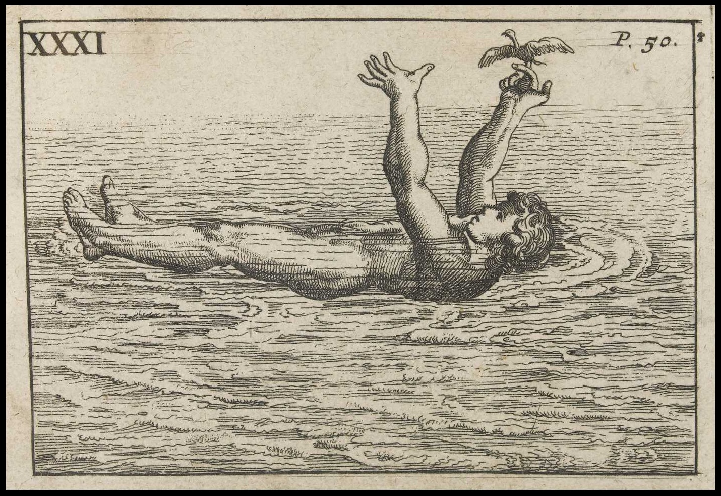 book illustration of weird swimming technique