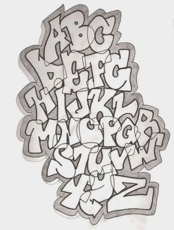 Graffiti Wall: Graffiti Alphabet A-z