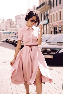 style next door- flowing dress