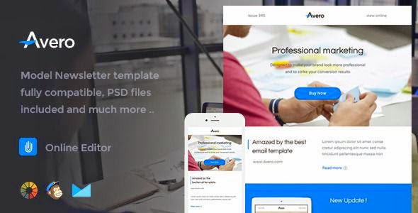 Avero - Responsive Email Template + Online Editor