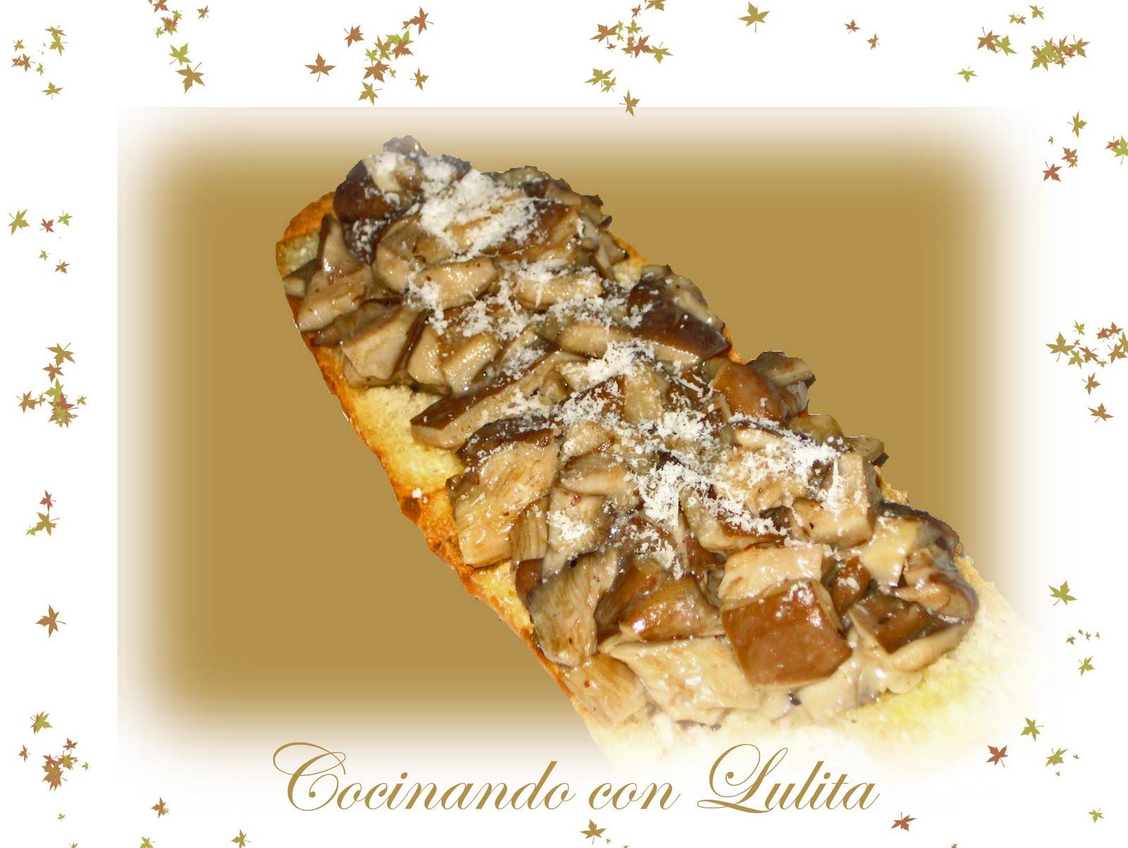Cocinando con lulita tosta de setas al estilo jamie oliver for Cocinando 15 minutos con jamie