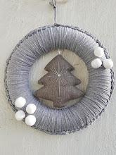 Corona de Navidad a trapillo