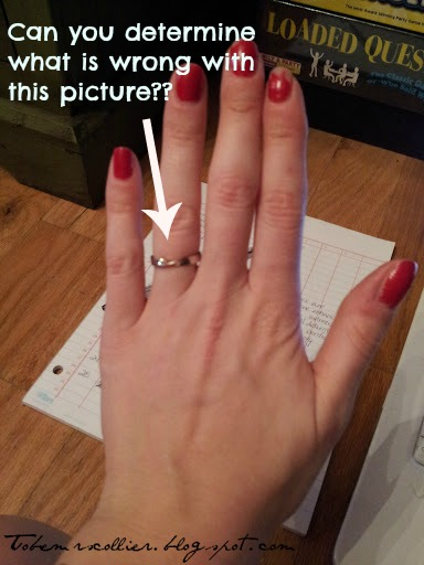 To Be Mrs Collier Engagement Rings and Trendy Nail Polish