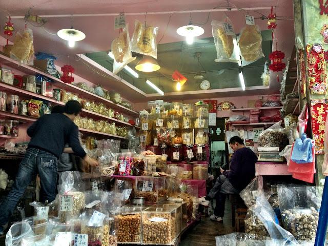 Dried food shop, Hong Kong