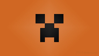 Minecraft Creeper desktop wallpapers orange