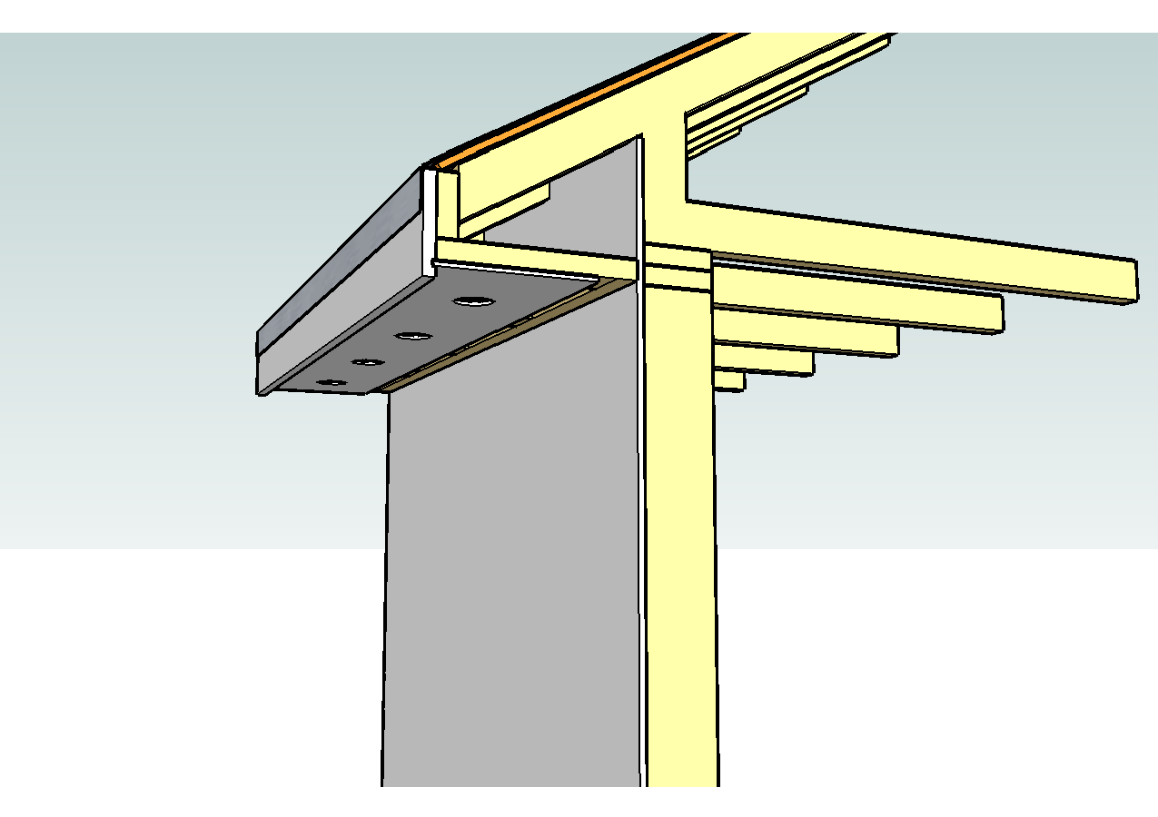 how to build 4 sided roof with fascia