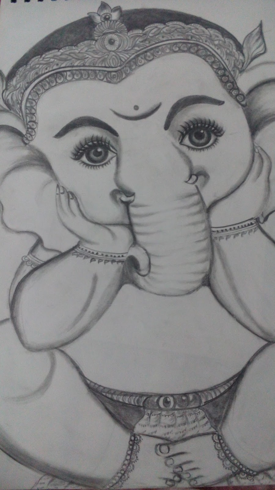 Sketch of lord ganesha