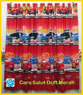 Gorden Motif Kartun Cars, Gorden Anak Karakter Cars Murah, Gorden Anak Motif Cars