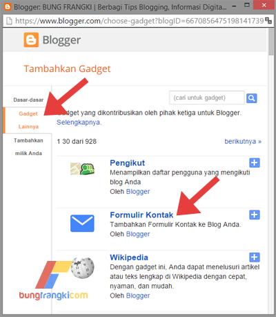 Cara Memasang Contact Us pada Halaman Statis di Blog